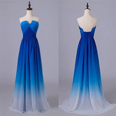 Blue Gradient Dress royal blue gradient prom dresses u neck ombre prom dresses royal blue gradient bridesmaid