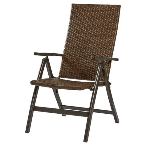 Outdoor Recliner Chair Target by Woven Pe Wicker Outdoor Reclining Chair Brown
