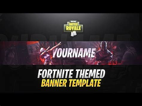 pin fortnite youtube banner template images to pinterest