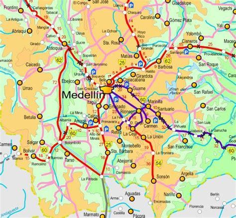 medellin map maps of medellin