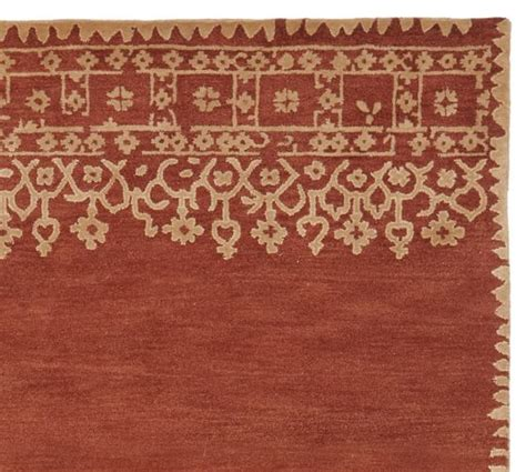 pottery barn desa rug desa bordered wool rug terra cotta pottery barn