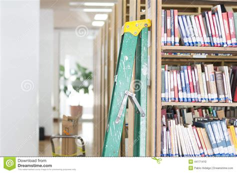library bookshelves stock photo image 44171410