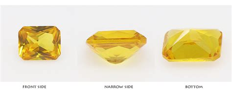 Corundum Yellow Sapphire cut yellow corundum bangkok yellow sapphire low
