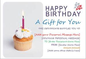 Birthday Gift Certificate Template For Word by Birthday Gift Certificate Template For Word Document Hub