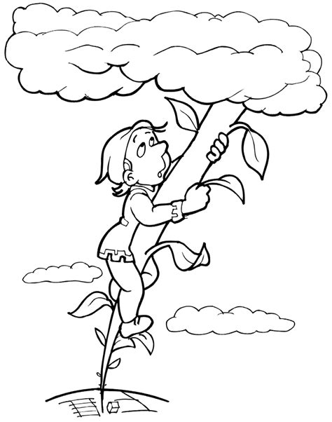 And The Beanstalk Coloring Page Jack And The Bean Stalk Printables
