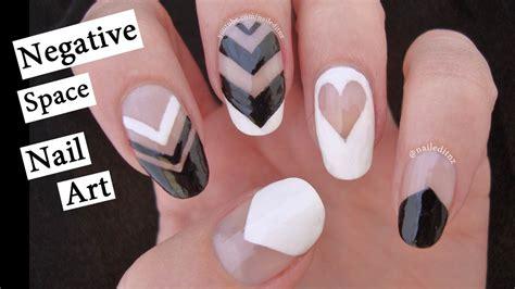nail art negative space tutorial black negative space nail art tutorial