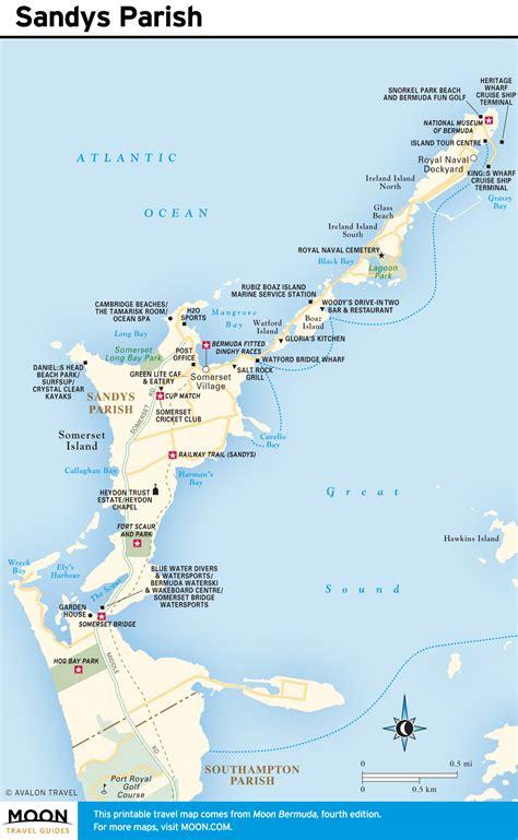 bermuda map printable travel maps of bermuda moon travel guides