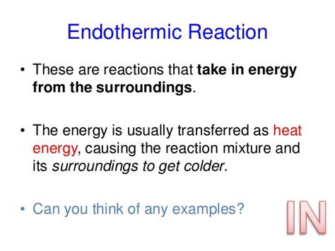 exle of endothermic reaction c2 5 exothermic and endothermic reactions