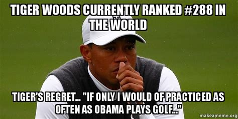 Tiger Woods Memes - tiger woods currently ranked 288 in the world tiger s