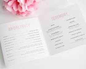 confetti wedding programs wedding programs by shine
