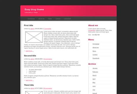 easy html templates free black pink css website template free css templates