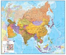 asia map wall map of asia large laminated political map