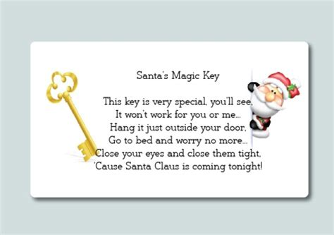 printable santa key template 24 christmas santa s magic key poem labels fun stickers medium