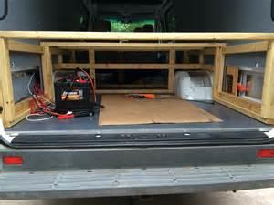 Wooden Bed Frame For Van Building A Bed For A Camper Van Sprinter Camper