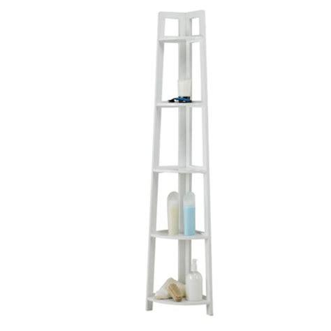 buy sheringham white wood 5 tier corner shelving unit from