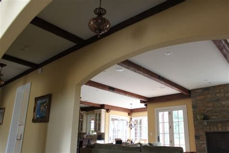Ceiling Design Home Makeover Completed Faux Wood Workshop False Ceiling Beams