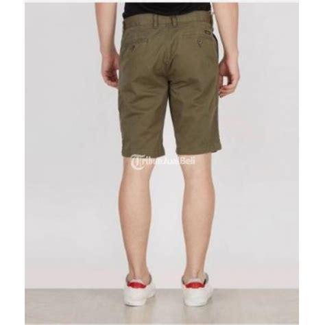 Celana Pendek Santai Hangout celana pendek pant safari pria hijau army merk 3 second keren new murah banten dijual