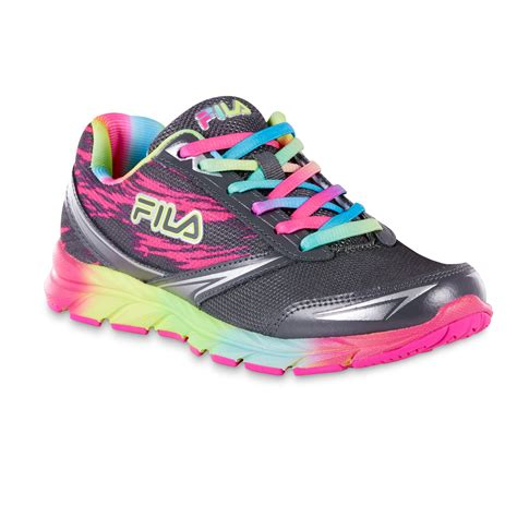 womens fila sneakers fila s memory tempera gray rainbow running shoe