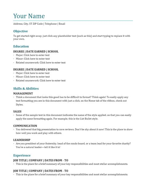 Resume Template Name by Best Blank Resume Templates Free Best Resume