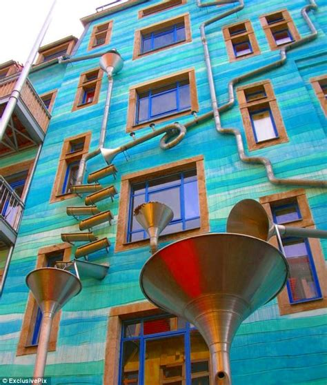 house plays music when it rains drop the beat the house located in dresden germany has become a tourist attraction