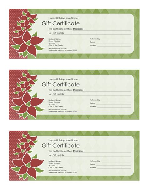 page gift certificate template certificates office
