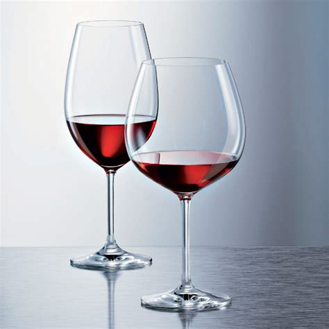 schott zwiesel barware schott zwiesel ivento burgundy glass set of 6 glassware