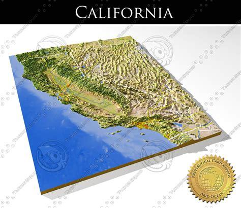 california map relief 3d map of california california map