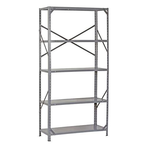 edsal 72 in h x 36 in w x 16 in d 5 shelf steel