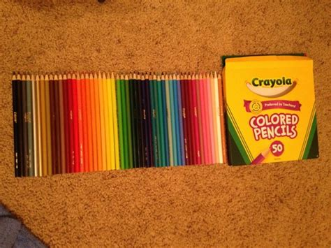 crayola 50ct colored pencils crayola 50ct colored pencils 68 4050