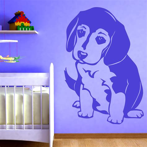puppy wall stickers beagle puppy animals wallart sticker wall decal transfers ebay