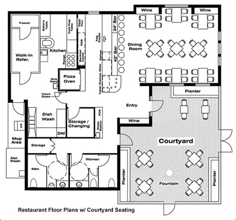 floor plan layout of restaurant kitchen restaurant floor plan plans exles for free