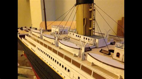 How To Make A Titanic Model Out Of Paper - titanic model build 1 200