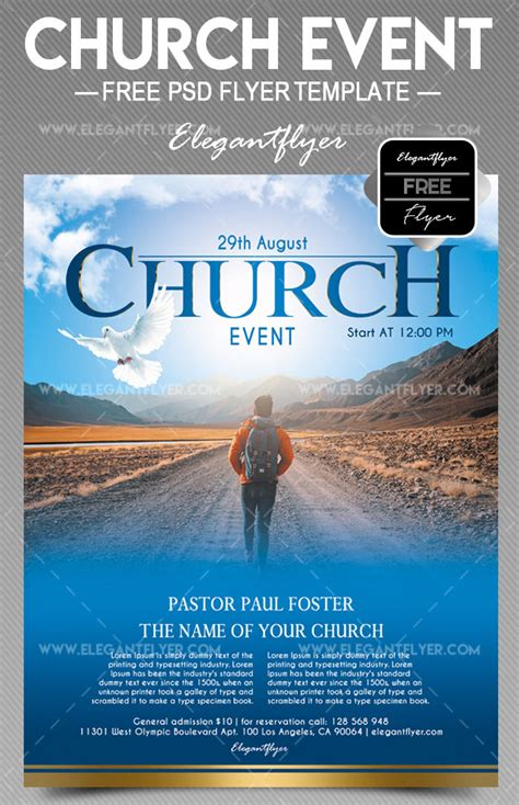 34 Free Psd Church Flyer Templates In Psd For Special Events Premium Version Free Psd Church Flyer Template
