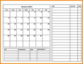 Monthly Budget Calendar Template 11 budget calendar template monthly bills template