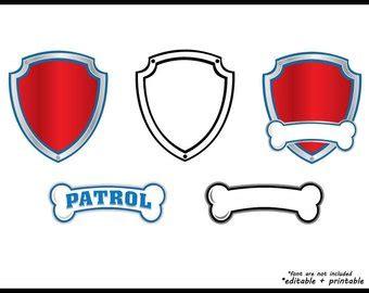 Paw Patrol Badge Svg Etsy Paw Patrol Logo Template