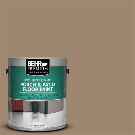behr premium 1 gal 700d 5 toffee crunch low lustre porch and patio floor paint 630001 the
