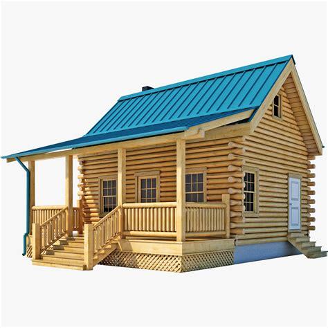 3d house 3d log cabin house