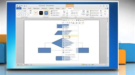 how to create a flowchart in word 2010 how to make a flow chart in word 2007 2010 2013 2016
