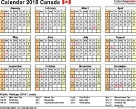Calendar 2018 At A Glance Canada Calendar 2018 Free Word Calendar Templates