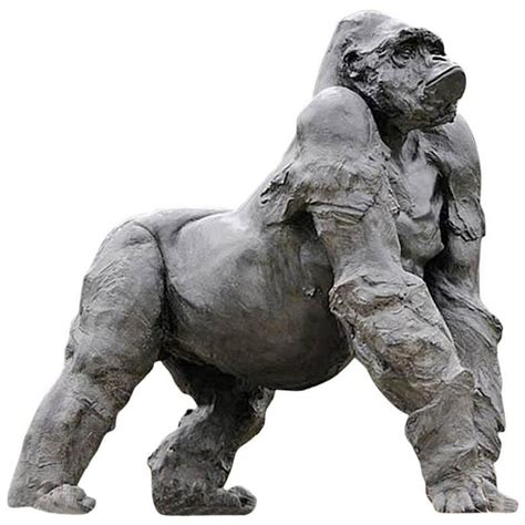 decorative sculptures for the home gorilla grey resin sculpture for sale at 1stdibs