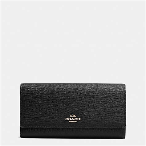 Coach Wallet For By Bagladies coach trifold wallet in crossgrain leather