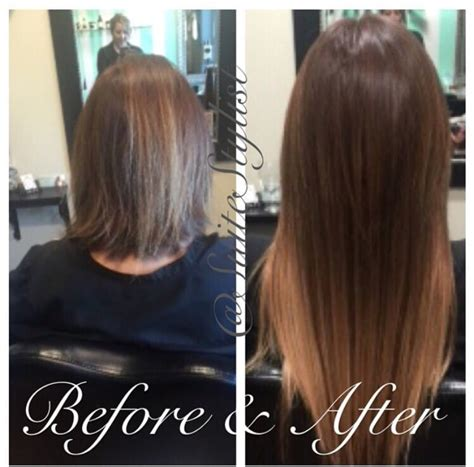 pics pf extentions with short hair beautiful transformation from short hair to long hair