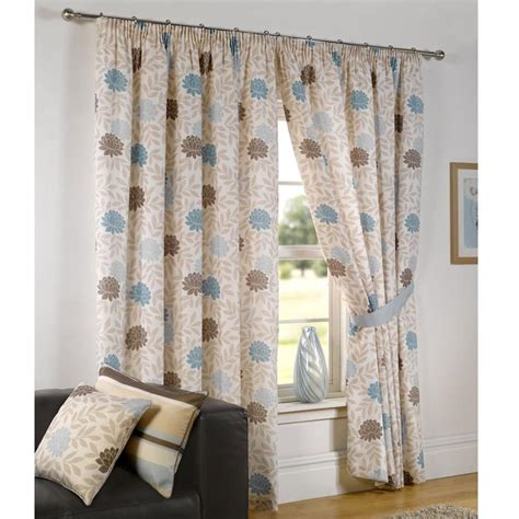 blue and cream curtains duck egg blue cream brown curtains nrtradiant com