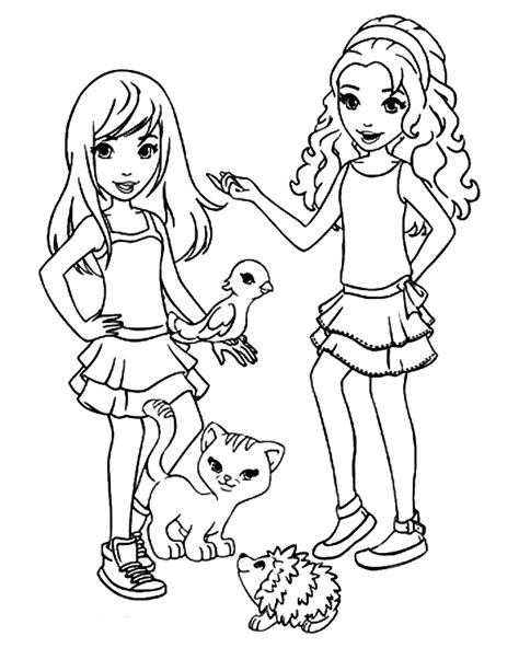 lego friends coloring pages how to draw lego friends