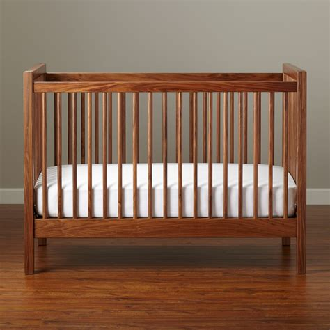Baby Cribs Convertible Storage Mini The Land Of Nod Walnut Baby Crib