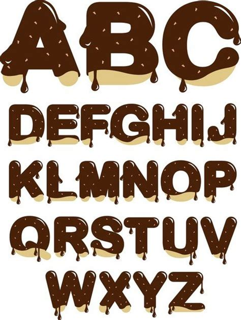 up letter to chocolate chocolate letters vector images clipart me