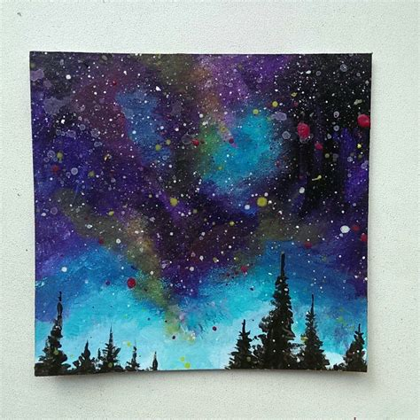 acrylic painting uses step by step of my mini galaxy painting i used acrylics