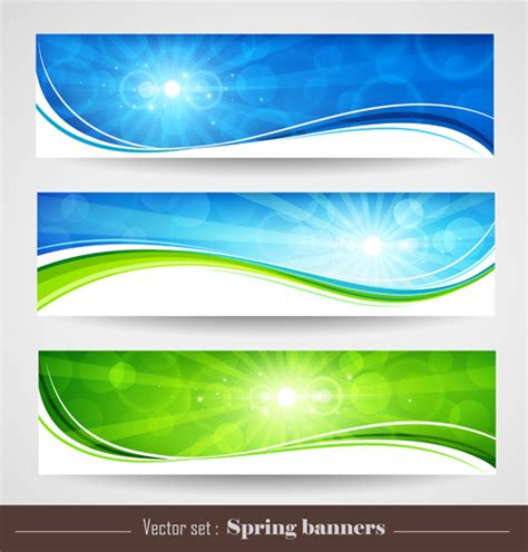 banner design for nature sunlight with nature banners vector 01 vector banner