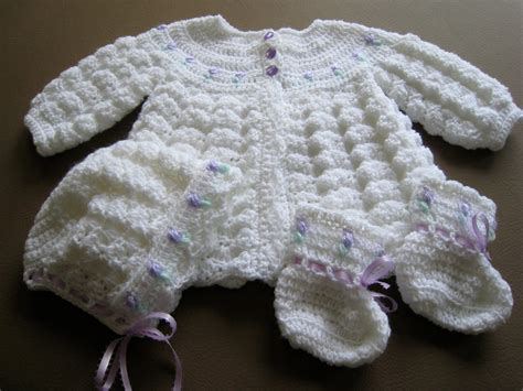 Handmade Sweaters For Babies - handmade crochet baby sweater set with by canamcreations