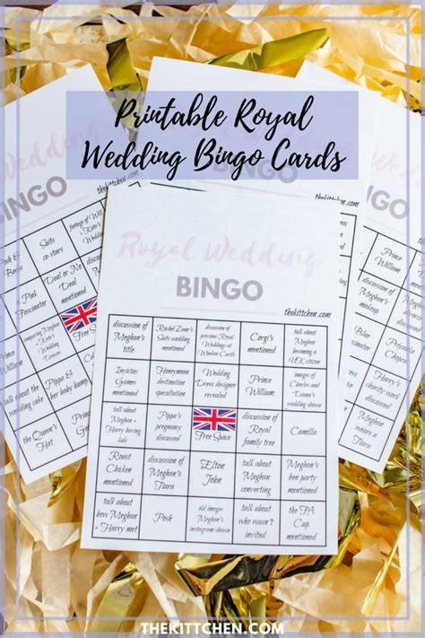 royal wedding  party royal wedding bingo